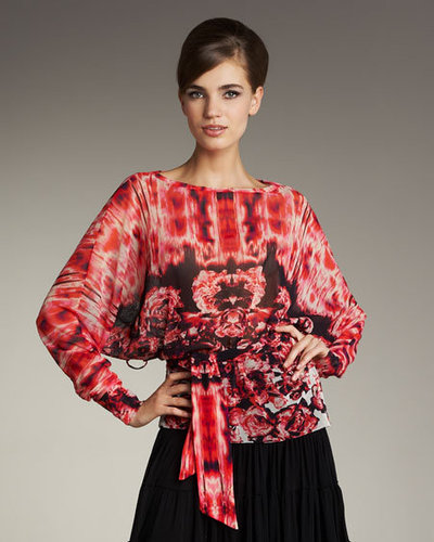Jean Paul Gaultier Printed Tie-Waist Top