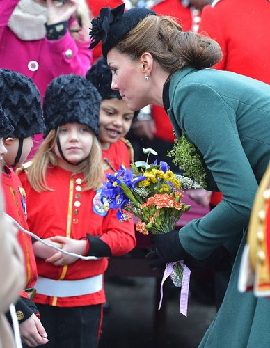 Kate Middleton at St. Patrick's Day Aldershot England