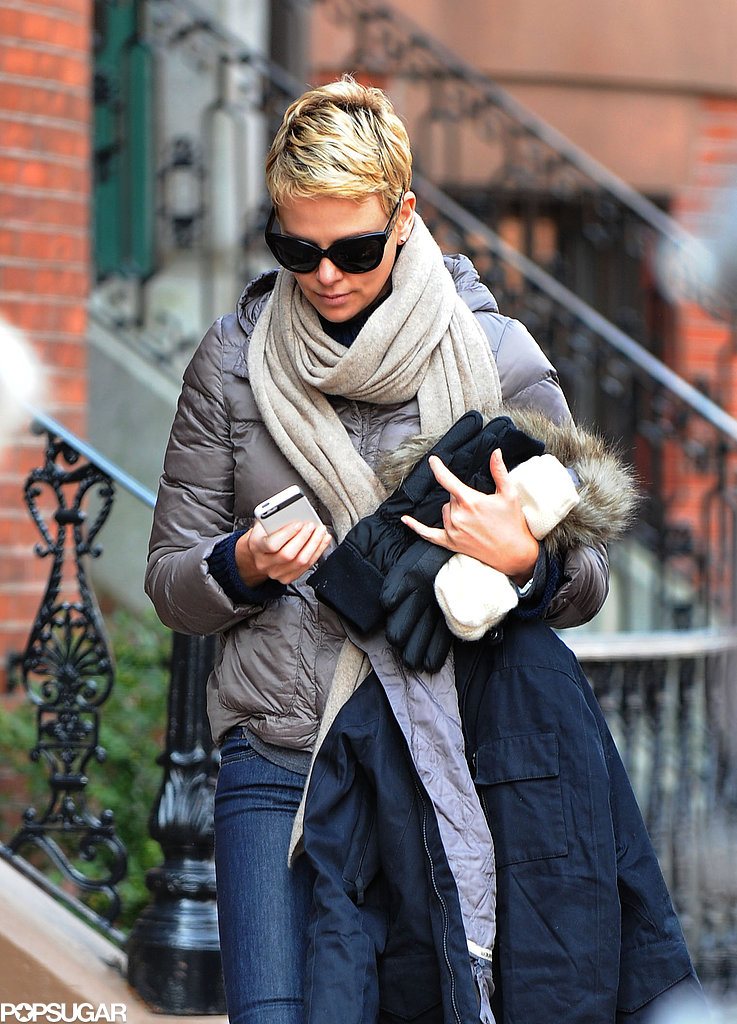 Charlize Theron Bundles Up on the Boston Set of Hatfields & McCoys