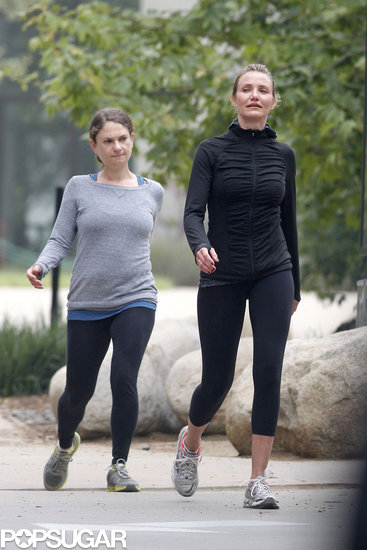 Cameron Diaz and a friend went hiking in LA on Tuesday.