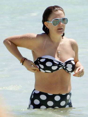 Drew Barrymore looked retro and playful in her black-and-white polka-dot bikini and mirrored aviators during her Mexico getaway in March with Cameron Diaz and Reese Witherspoon.