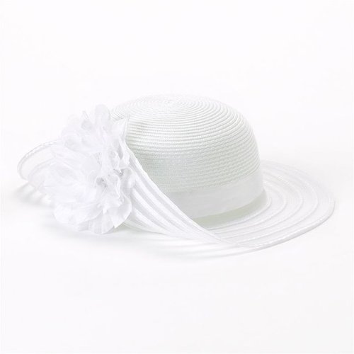 Toby floral folded floppy hat - girls 4-6x