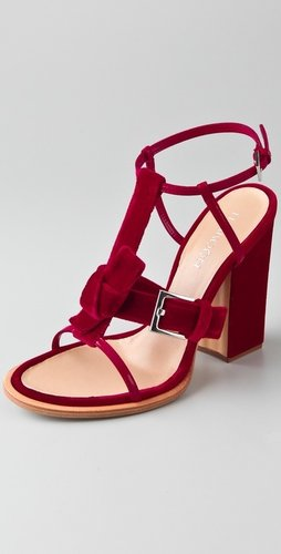 Thakoon Velvet High Heel Sandals