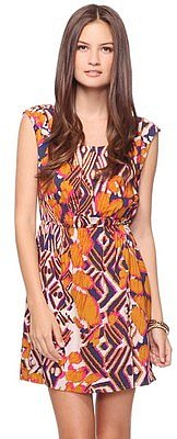 Love 21 Vibrant Ikat Print Dress