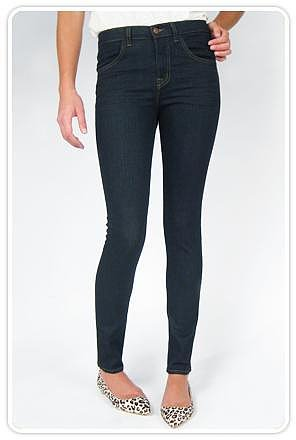 J Brand Maria High Rise Skinny Leg in Starless