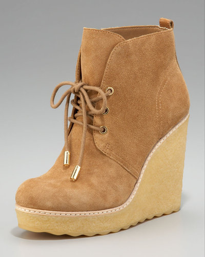 Tory Burch Denise Lace-Up Wedge Bootie
