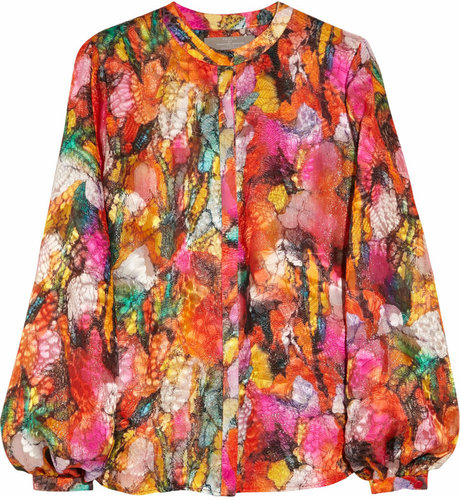 Preen Sunset printed devor blouse