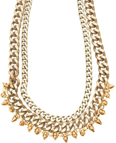 Vanessa Mooney Brass Crash Necklace