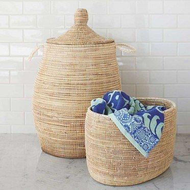 Woven West African Basket and Hamper