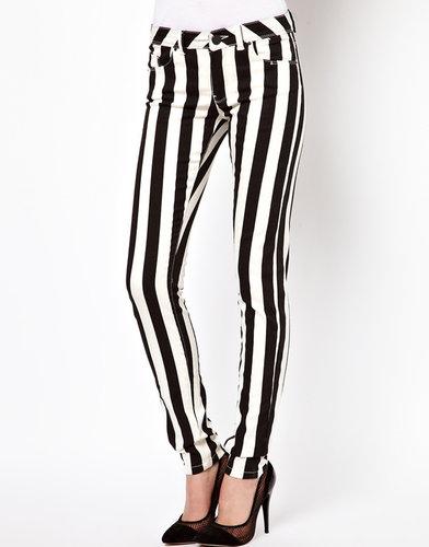 ASOS Elgin Skinny Jean in Mono Stripe