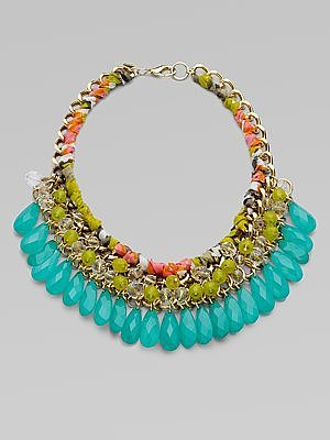 Vintage Teardrop Statement Necklace