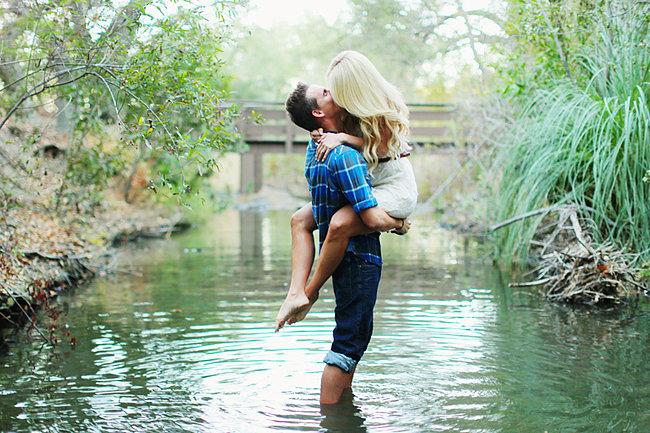 Embrace in a Creek