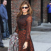 Eva Mendes in Leopard at Late Show With David Letterman