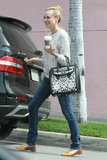 Diane Kruger stopped for coffee in LA on Wednesday.