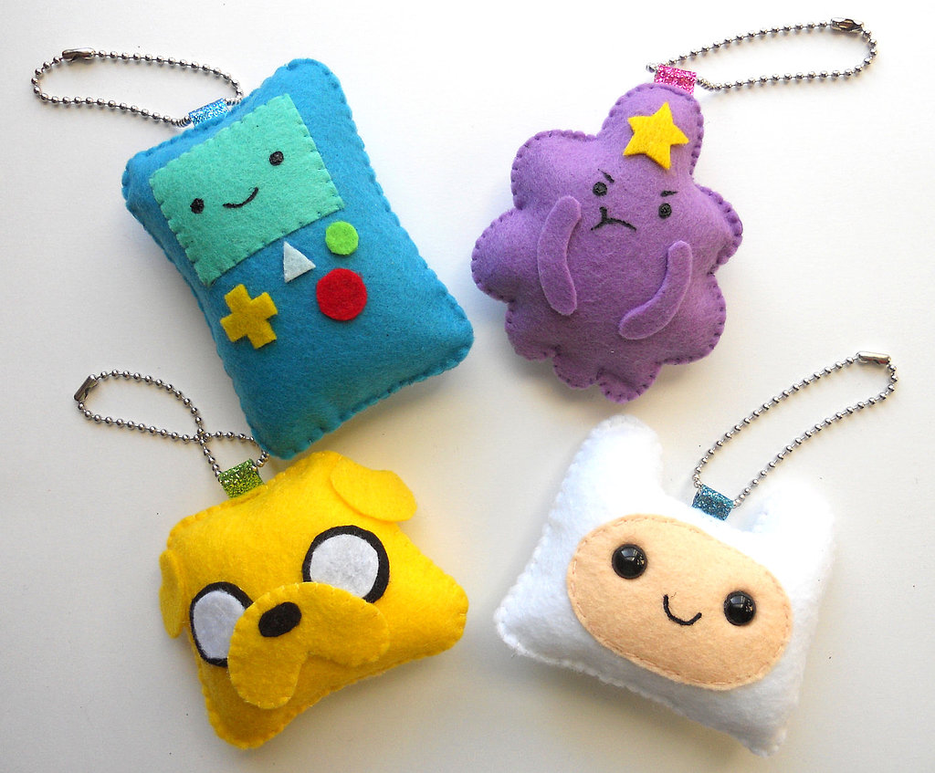 DIY Adventure Time Keychain Set