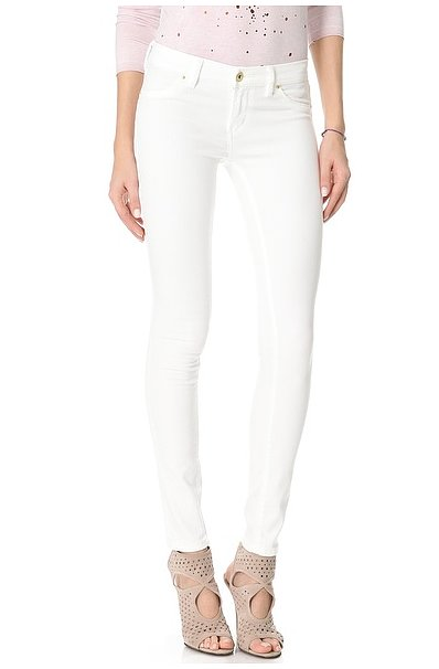 While we firmly believe white jeans are totally appropriate year-round, Spring means it really is the time to shelve your leather-coated trousers and red waxed denim and pick up a pair of crisp white jeans, like these Blank denim skinny jeans ($88).