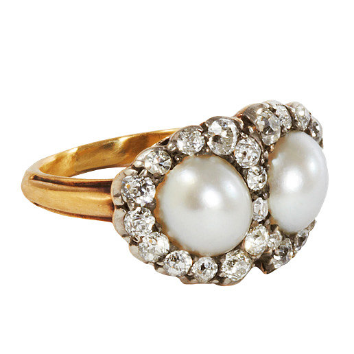 For the girl who loves an antique feel, this pearl and diamond Olivia Collings ring ($5,635) evokes quite an old-school vibe.