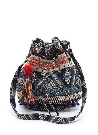Fact: you'll be walking around a lot, so save your back and ditch the leather messenger for this perfectly sized Stela 9 Ganesha bucket bag ($66).