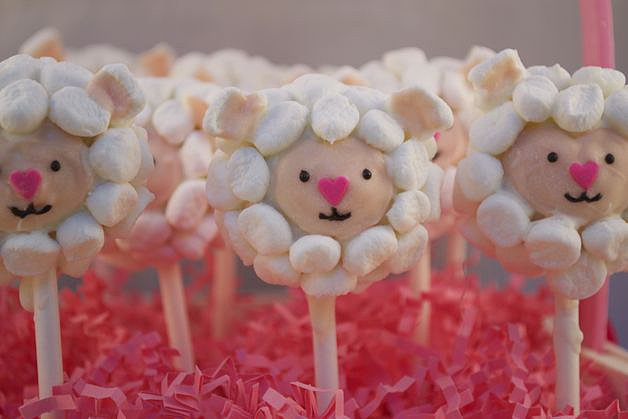 Easter Lamb Cake Pops