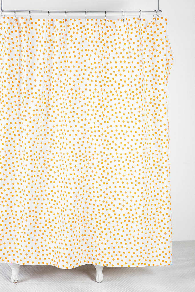 Give your bathroom a cherry touch with this yellow polka-dot shower curtain ($39),