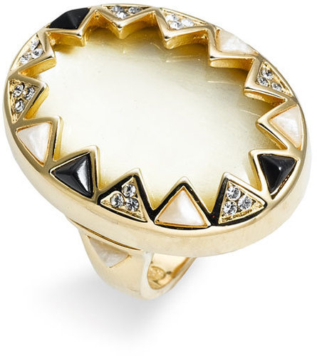 House of Harlow 1960 Enamel &amp; Crystal Sunburst Ring