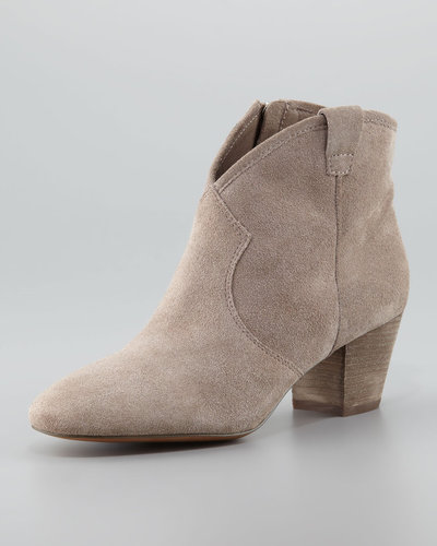 Ash Suede Low-Heel Ankle Boot