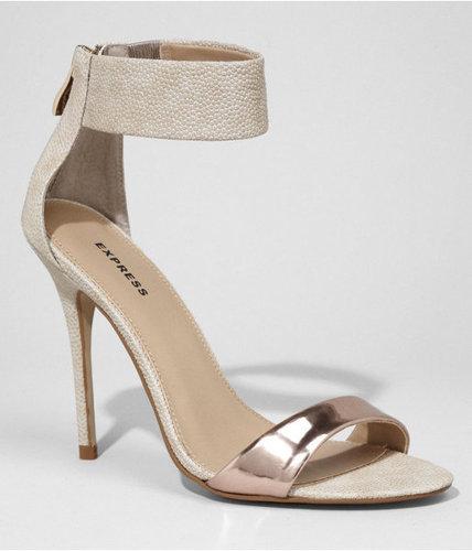 Zip Back Heeled Sandal