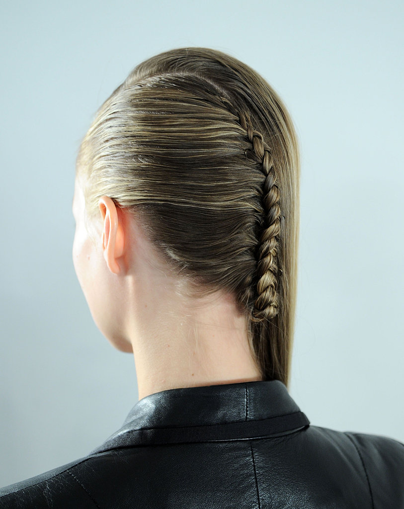 Not into the entire-head-of-braids situation? Try a thin one down the back of your head, like at Alexandre Herchcovitch, for an edgier take on the style.