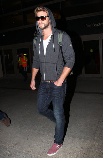 Liam Hemsworth landed in LA.