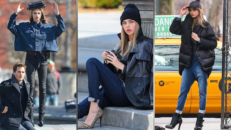 Behind the Scenes at Cara Delevingne's DKNY Photo Shoot in NYC