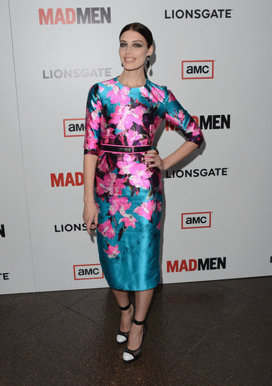 Jessica Paré brought a bold floral-print sheath to the event, which she paired with black-and-white cap-toe heels.