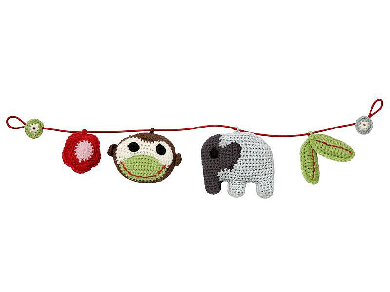Crocheted Jungle Stroller Mobile
