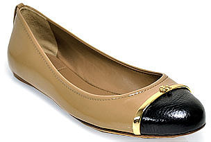 Tory Burch - Pacey - Sand Patent Leather Ballet Flat