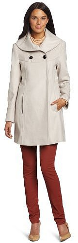 Larry Levine Women's Luxurious Double Breasted Coat