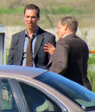 Matthew McConaughey and Woody Harrelson filmed scenes for the upcoming TV series True Detective in New Orleans on Friday.
