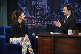 Drew Barrymore chatted with Jimmy Fallon.