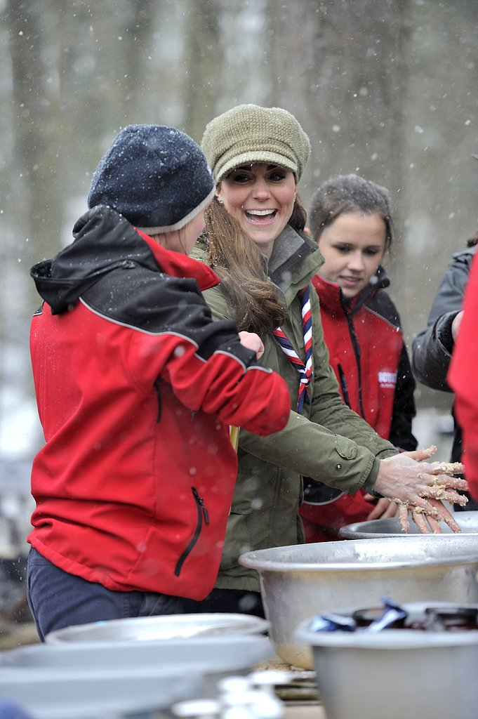 Kate Middleton mingled with cub scouts.