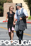Britney Spears and her new boyfriend, David Lucado, shared a sweet look in LA.