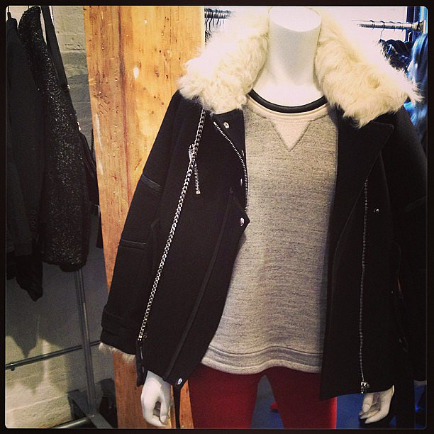 How cozy does that shearling collar look?