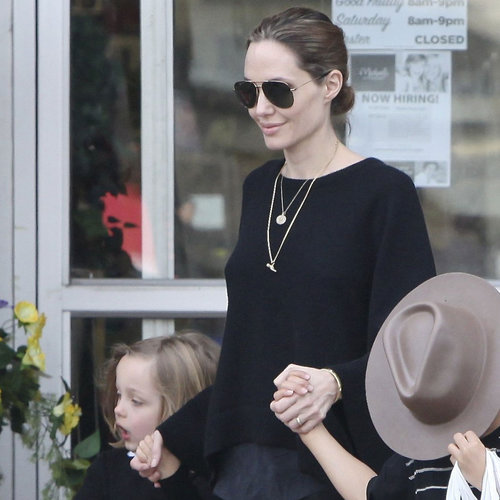 Brad Pitt and Angelina Jolie With the Kids on Easter Weekend