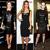 Celebrity Style: Black Leather Dresses, Olivia Palermo