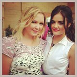 Pretty Little Liars' Lucy Hale posed with a friend. Source: Instagram user lucyhale89