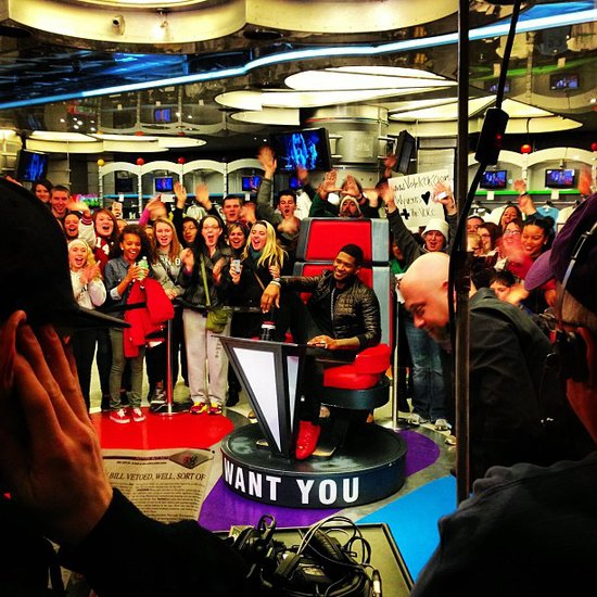 Host Carson Daly shared a shot of The Voice's Usher. Source: Instagram user carsondaly
