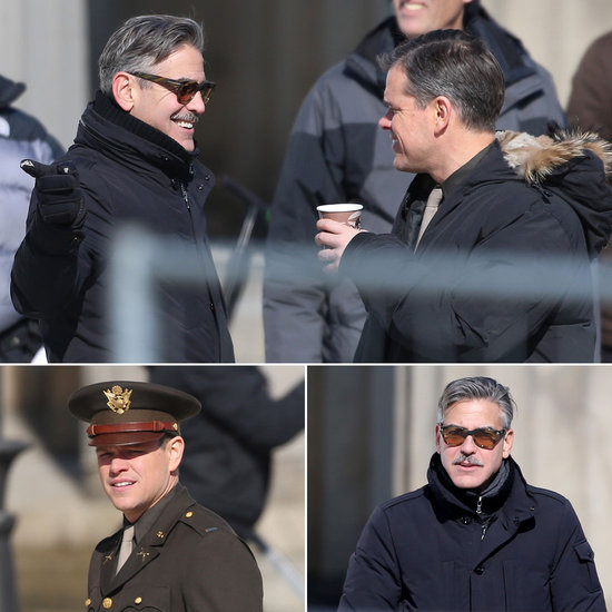 George Clooney and Matt Damon Share a Laugh on Set