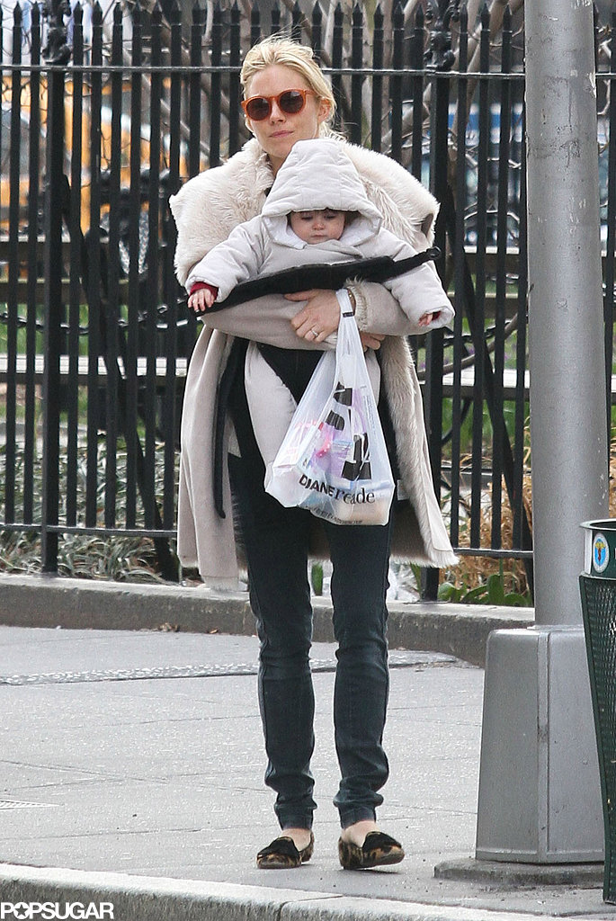 Sienna Miller Brings Her Bundle of Joy Marlowe on an Errand Run