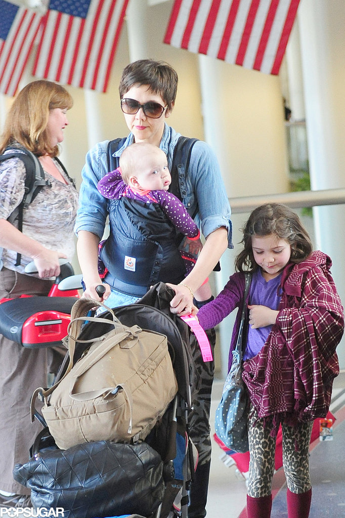 Maggie Gyllenhaal Lands in LA With Her Daughters and a New Pixie Cut