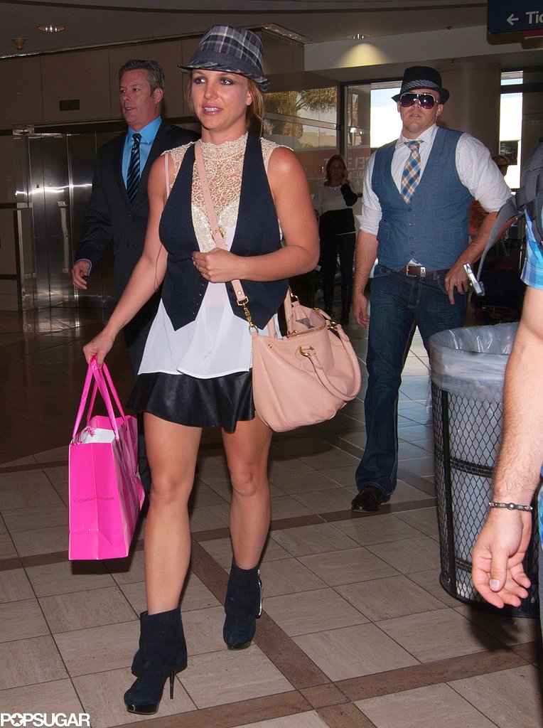 Britney Spears and David Lucado walked through LAX.