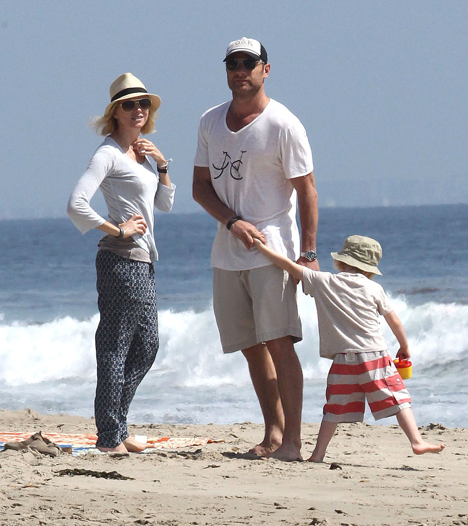 Naomi and Shirtless Liev Beach It With Their Boys in Malibu