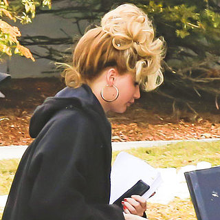 Jennifer Lawrence Sporting a Sexy Hairdo on Set