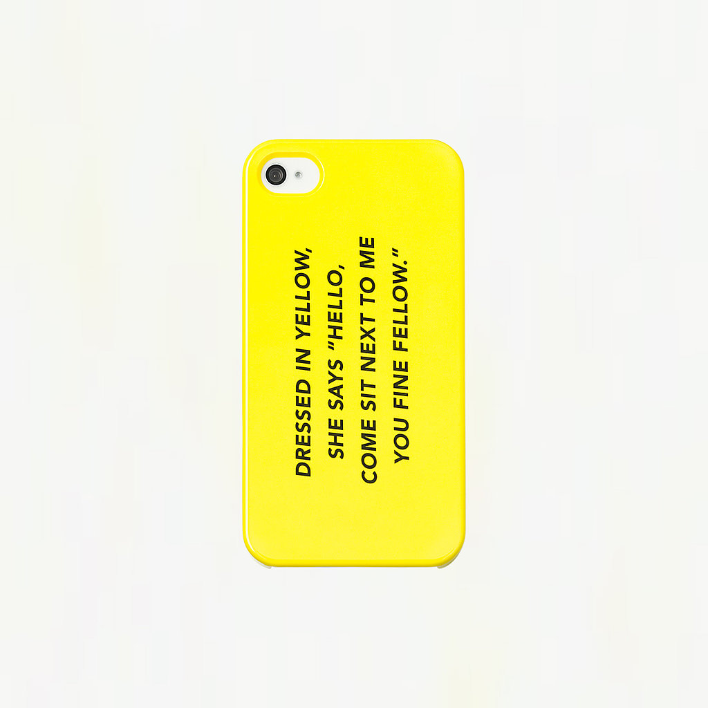Kate Spade Saturday's Fine Fellow ($25) iPhone 4 case makes us want to bust a move. There's an iPhone 5 version, too.